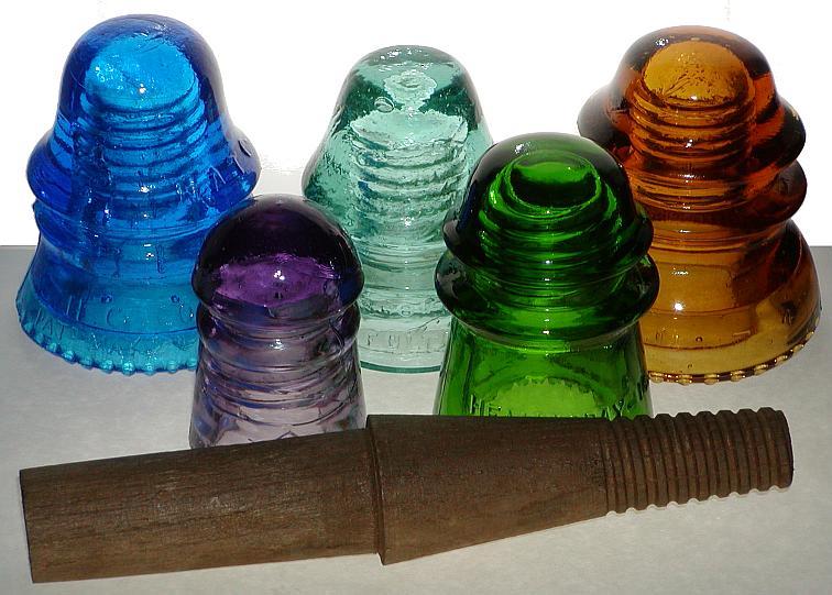 Glass insulators glassian for Glass electric insulator crafts