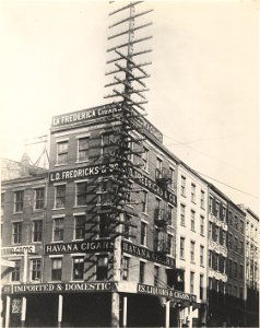 West St Pole Line, NYC, 1898