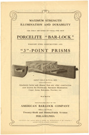 "Porcelite ""Bar-Lock"" and ""3""-Point Prisms"