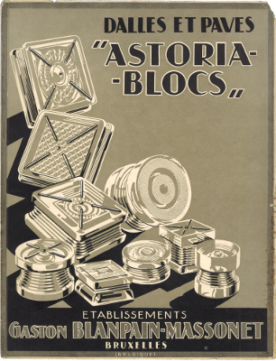 "Gaston Blanpain-Massonet Dalles et Paves ""Astoria-Blocs"" ca.1935"