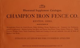 Champion Iron Co 1884 catalog