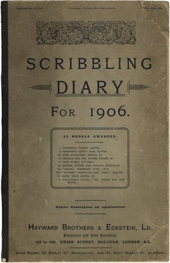 Hayward Brothers & Eckstein Scribbling Diary for 1906