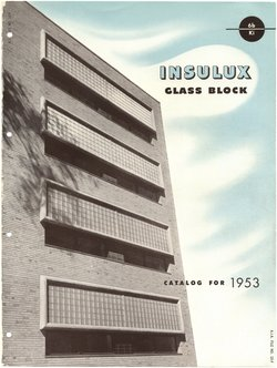 Insulux Glass Block catalog for 1953