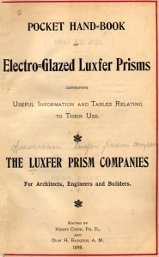 Pocket Hand-Book of Electro-Glazed Luxfer Prisms